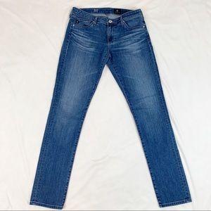 AG the Stilt cigarette leg blue Jeans medium wash